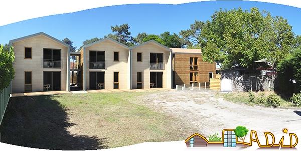 Bâtiments de sept logements résidences saisonnières à Maubuisson