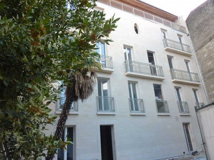 Construction d'un immeuble neuf à Bordeaux : Façade sur jardin