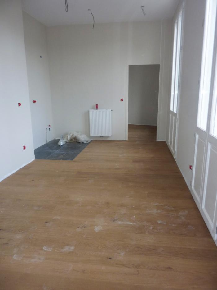 Construction d'un immeuble neuf à Bordeaux : Parquet