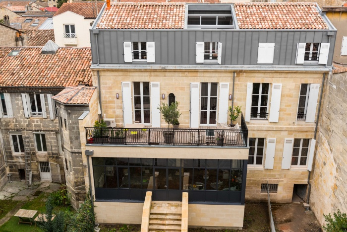 Surélévation Bordeaux réhabilitation, surélévation et extension d'un immeuble à bordeaux à