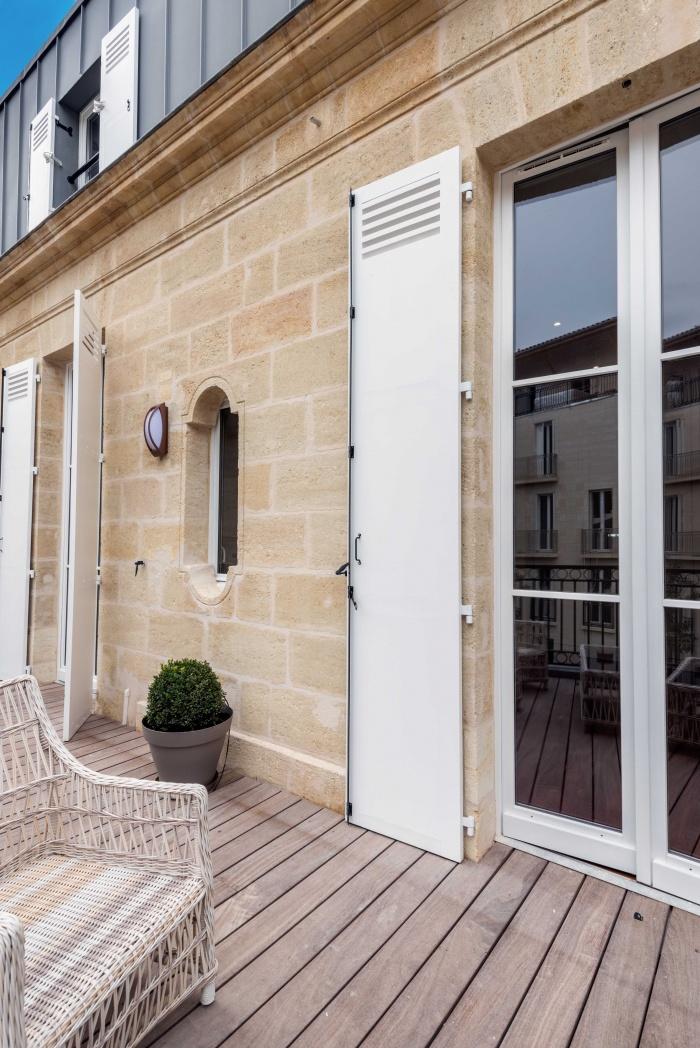 Réhabilitation, surélévation et extension d'un immeuble à Bordeaux : Terrasse