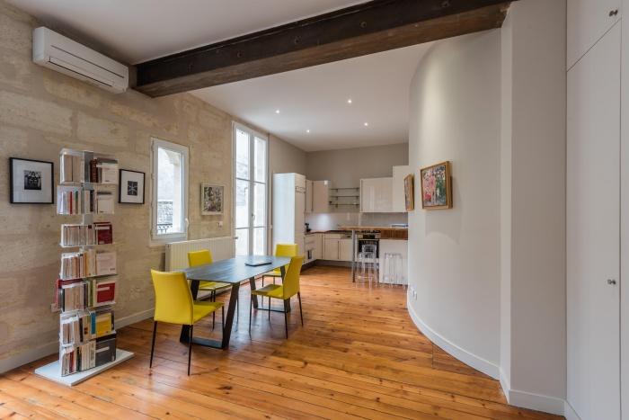 Réhabilitation, surélévation et extension d'un immeuble à Bordeaux : Intérieur logement 3