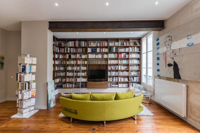 Réhabilitation, surélévation et extension d'un immeuble à Bordeaux : Intérieur logement 4
