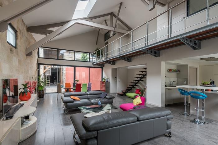 Architectes r habilitation et extension d 39 une choppe bord - Maison dans hangar metallique ...