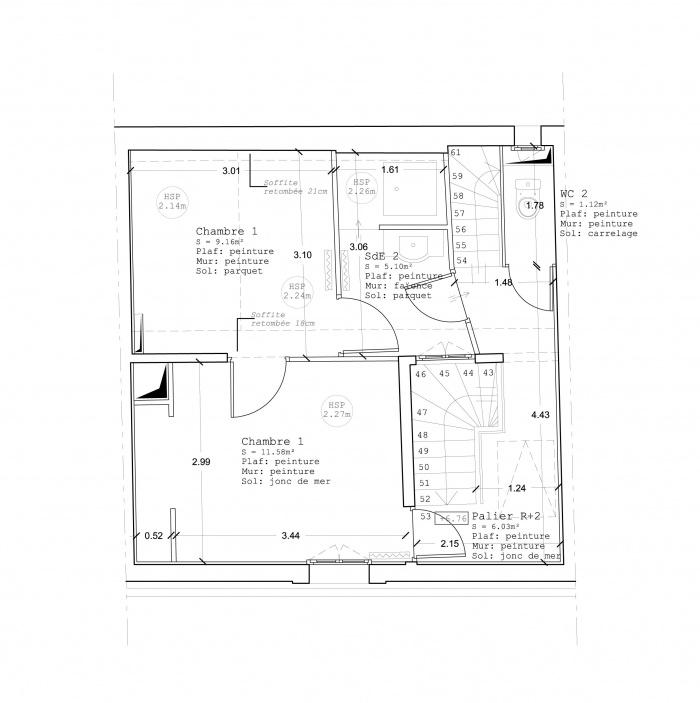 Immeuble CP : EDL R+2