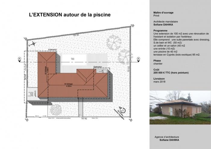 L'EXTENSION autour de la piscine (chantier en cours)