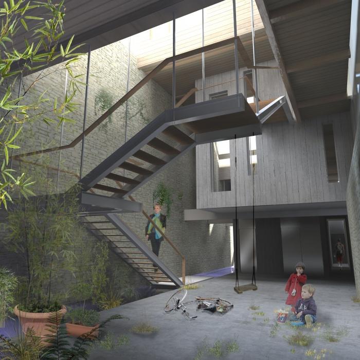 Vies révées : ONT 007-vue patio d\'entrée