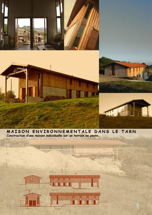 Maison environnementale à Lisle sur Tarn (81)
