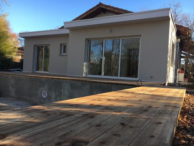 Extension d'une habitation existante - ST JEAN D'ILLAC