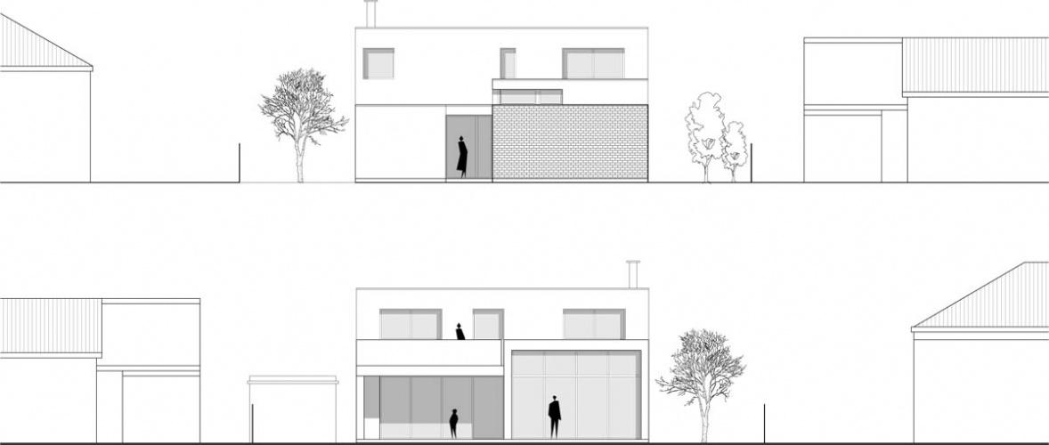 Maison neuve à Villenave d'Ornon : FACADE EO