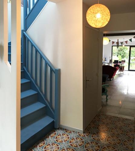 Extension et Rénovation d'une maison de ville : escalier