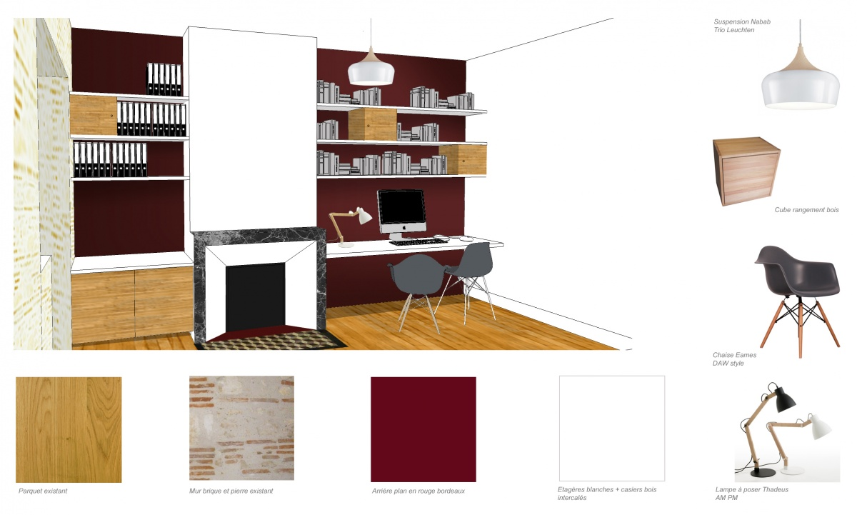Rénovation d'une maison de ville : bureau