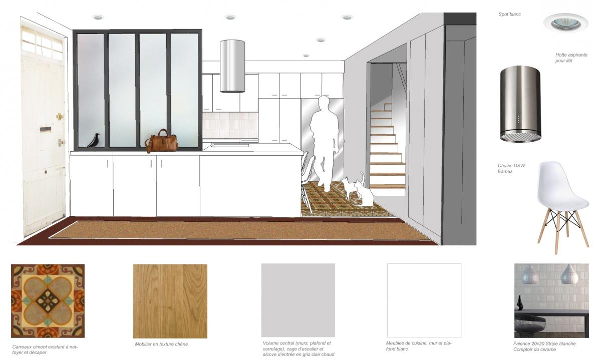Rénovation d'une maison de ville : cuisine