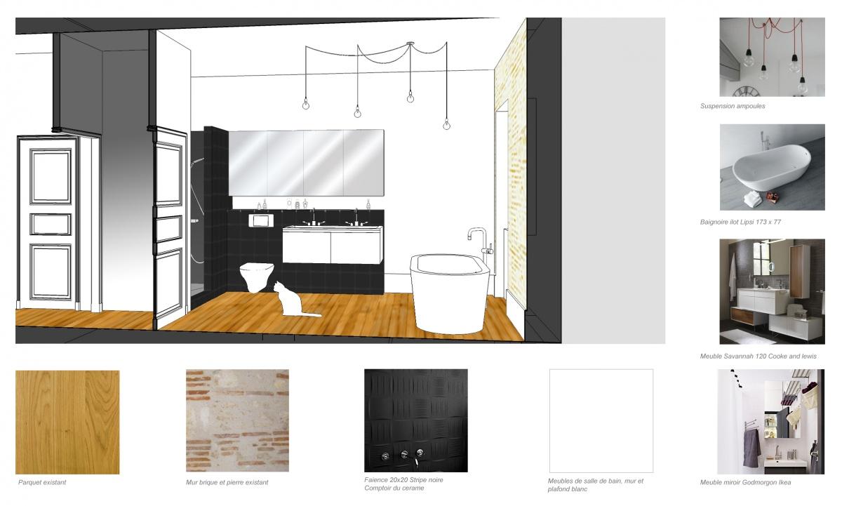 Rénovation d'une maison de ville : salle de bain