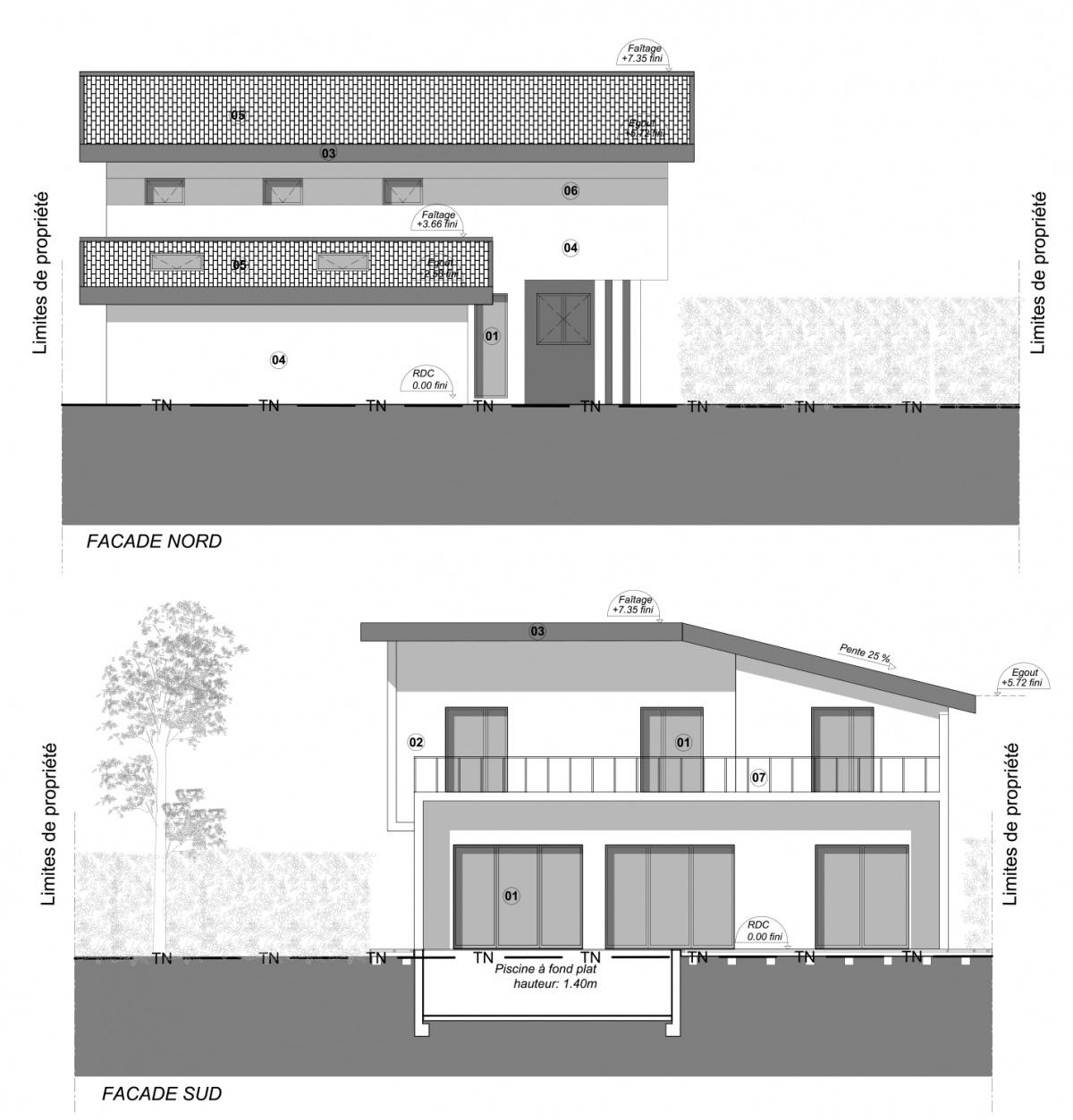Maison avec studette : FACADES_NS