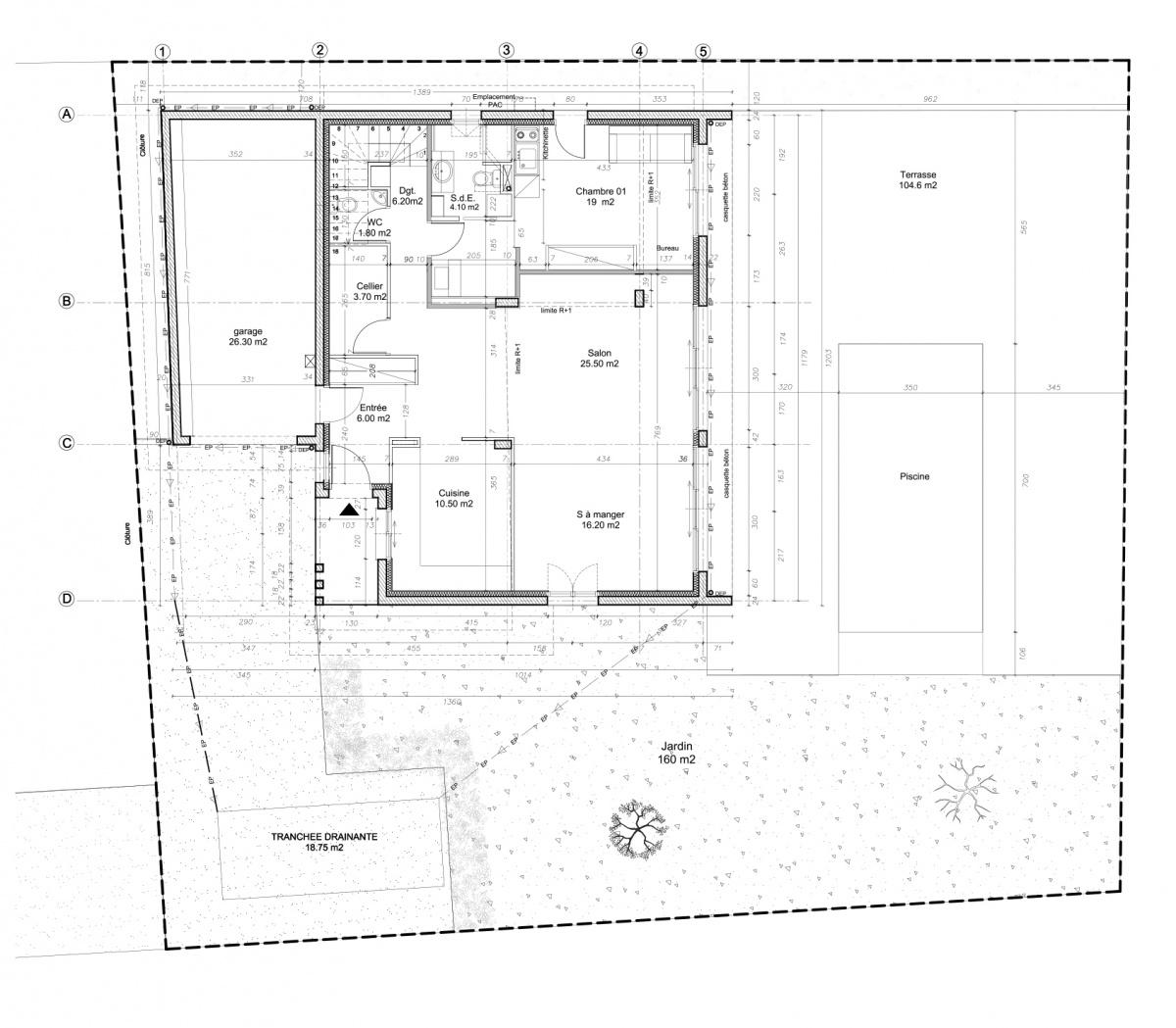 Maison avec studette : PLAN_RDC