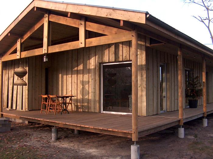Extension tout bois d 39 une maison existante sur parcelle arbor e 33 bordeaux une for Construction maison en bois bordeaux