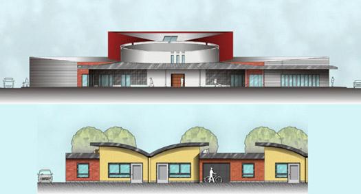 élévation couleur des bâtiements de la maison de retraite