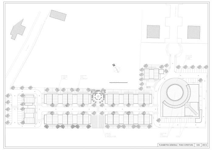 plan de masse terrain de la maison de retraite