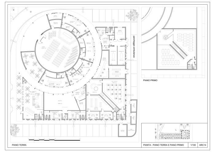 plan du bâtiment public