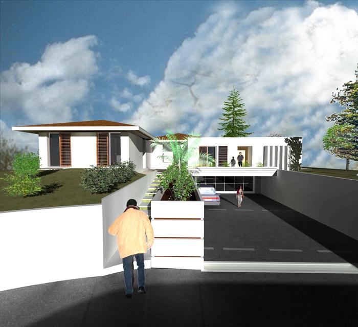 villa côté rue