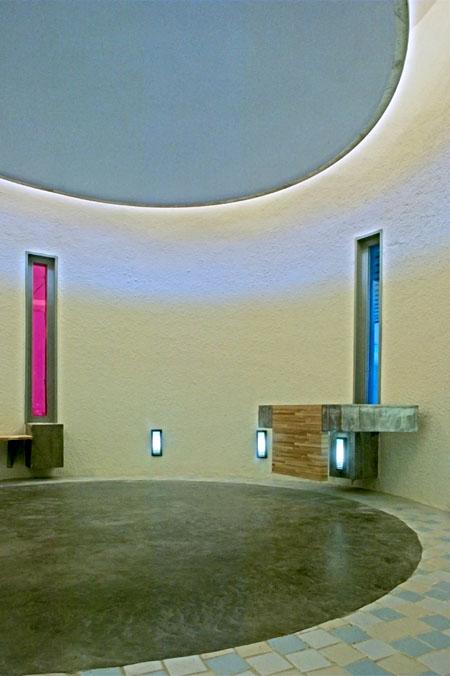 intérieur circulaire,éclairage