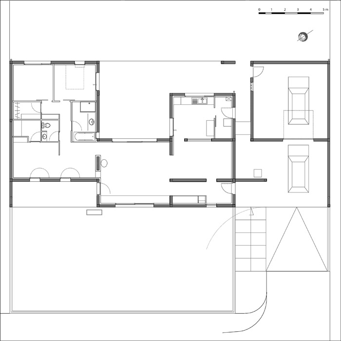 Architectes les tournesols maison d for Plan maison d habitation