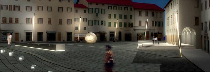 place publique avec arcades