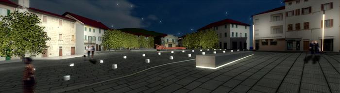 mobilier urbain rétro-éclairé