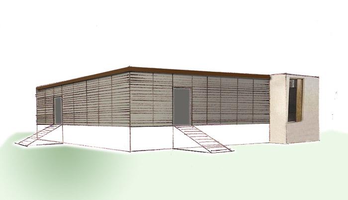 maison bardage ajouré bois