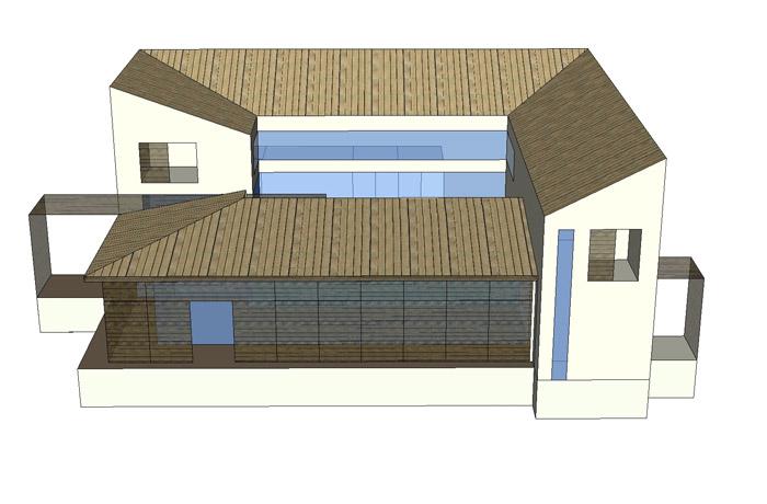 maison bioclimatique avec cour centrale