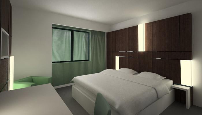 mobilier de chambre d'hôtel