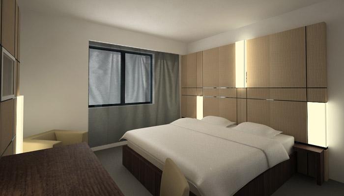 chambre d 39 hotel design. Black Bedroom Furniture Sets. Home Design Ideas