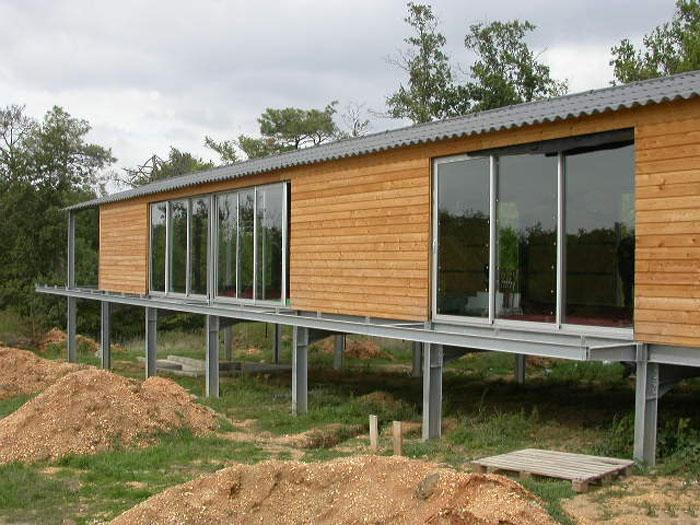 Maison acier bois carignan carignan une r alisation for Maison en acier prix
