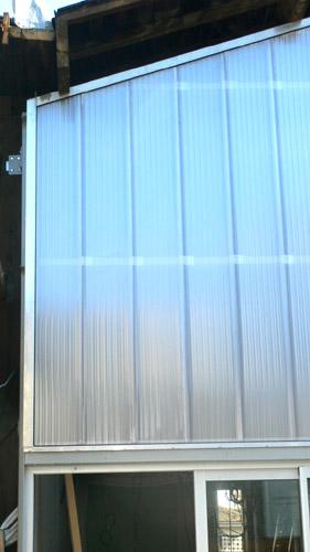 façade en polycarbonate