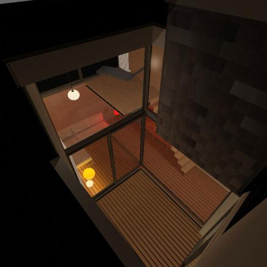 vue du dessus d'un loft