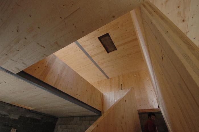 intérieur bois maison contemporaine