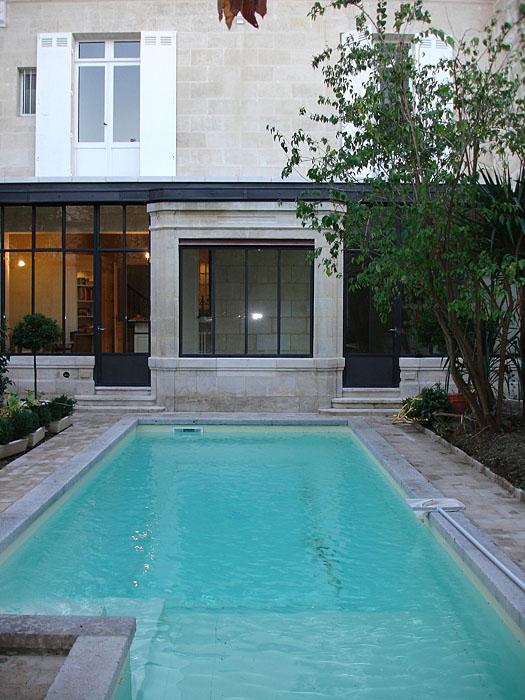 Architectes r habilitation totale d 39 un h tel particulier 33 bordeaux - Piscine style bassin pierre argenteuil ...