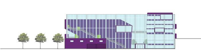 façade verre acier