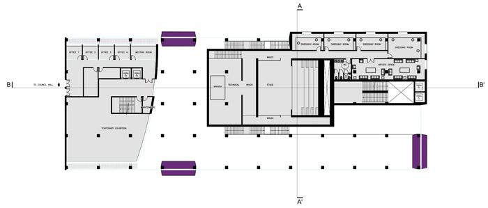 niveau 1 salle de spactacle scène