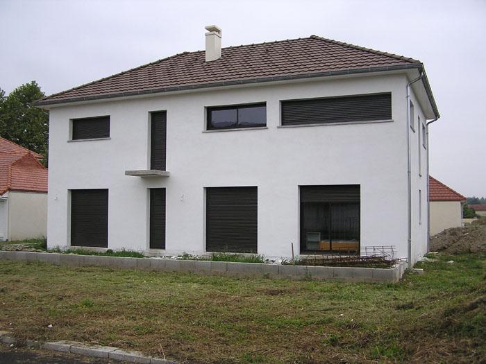 Architectes maison cubique bordeaux for Facade maison cubique
