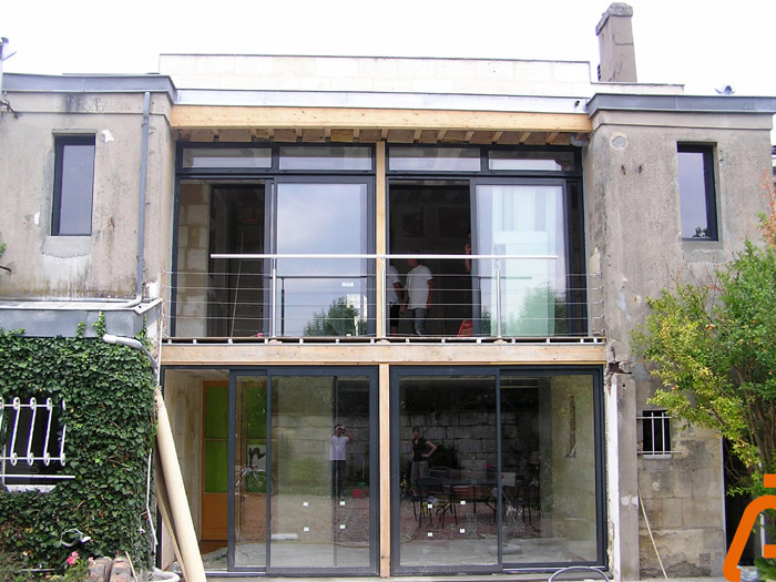 R habilitation et extension d 39 une choppe bordelaise for Annexe maison prix
