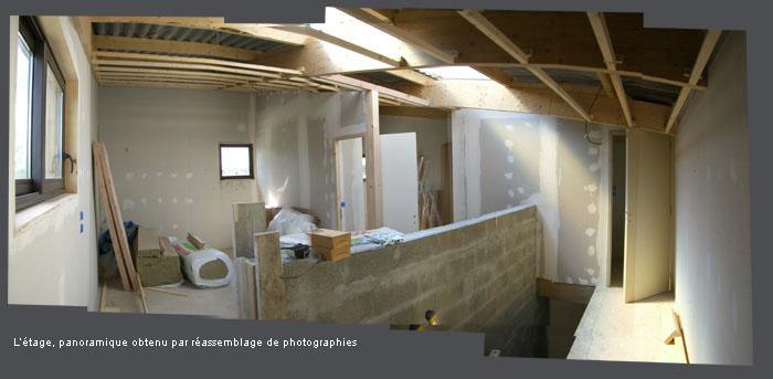 intérieur maison en construction