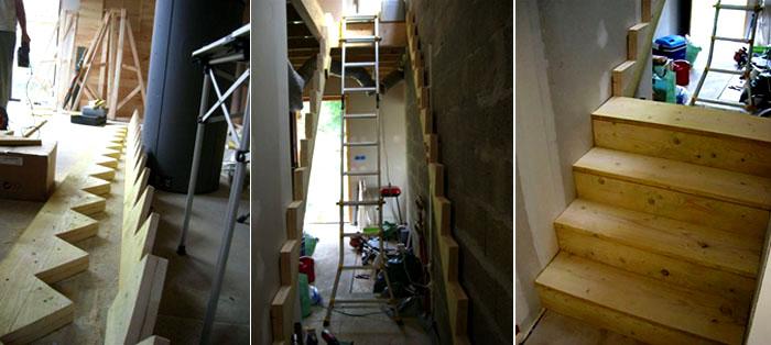 construction de l'escalier