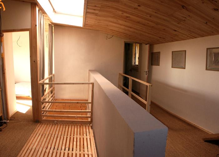 aménagement bois dans loft