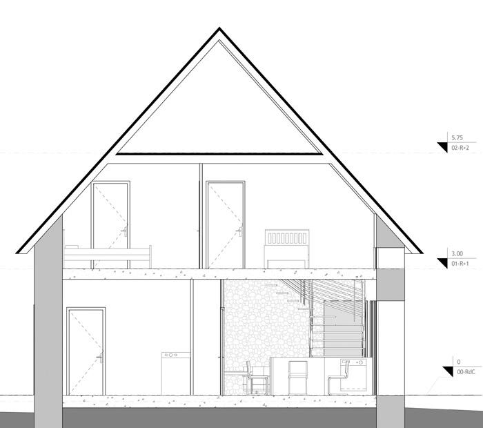 Plan de coupe de maison cheap coupe with plan de coupe de - Application plan de maison ...