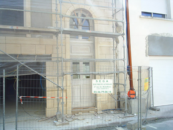 façade en rénovation