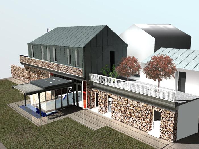 Rehabilitation d 39 un ancien corps de ferme en maison d for Architecte renovation ferme