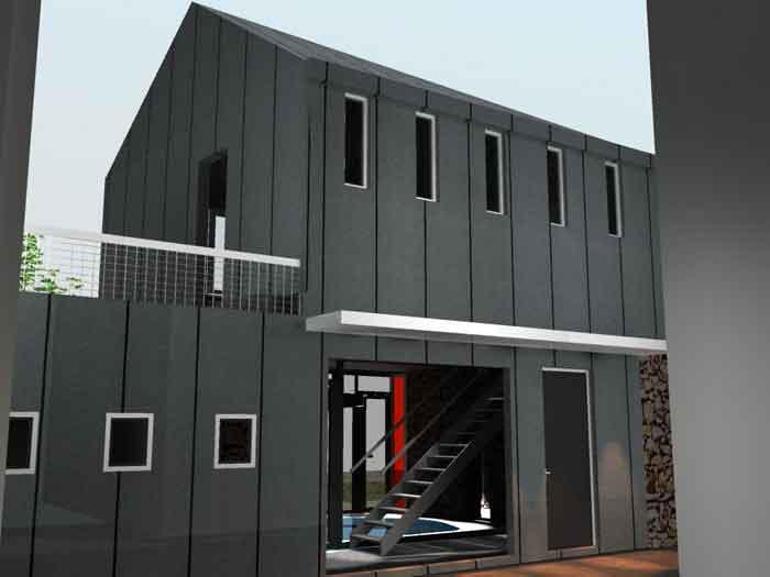 Facade zinc maison rev tements modernes du toit for Toit en zinc noir