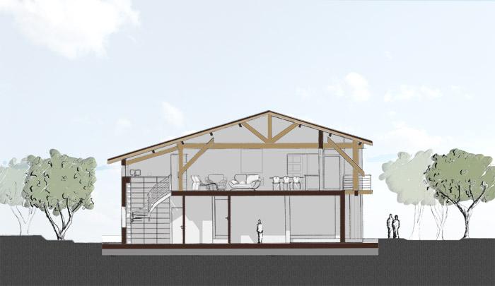 r novation d 39 une grange en logement individuel 31 montberaud une r alisation de agence silvea. Black Bedroom Furniture Sets. Home Design Ideas